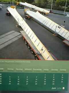 風車のブレード輸送